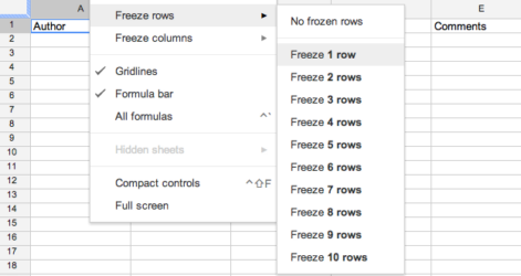 Software Examples Spreadsheets Excel Spreadsheet Simple Template Google Sheets Freeze Row