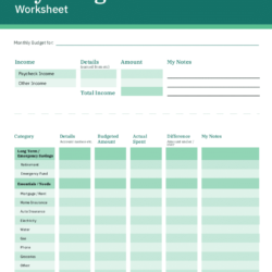 Spreadsheet Business Financial Planning Printable Budget Get Out Of Debt Sheet Template