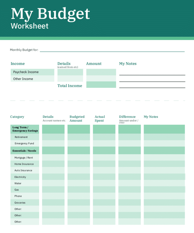 Full Size of Spreadsheet Business Financial Planning Printable Budget Get Out Of Debt Sheet Template