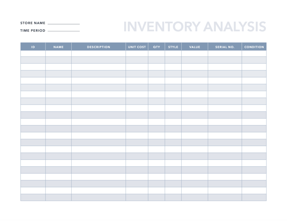 Large Size of Spreadsheet Download Boat Inventory Sample Product Clothing