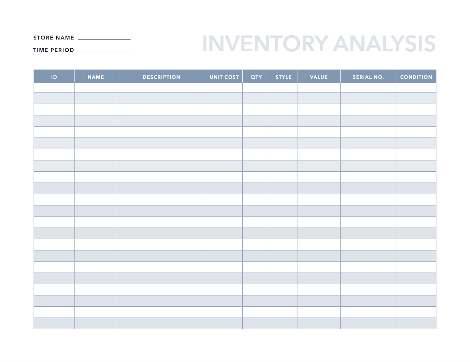Full Size of Spreadsheet Download Boat Inventory Sample Product Clothing
