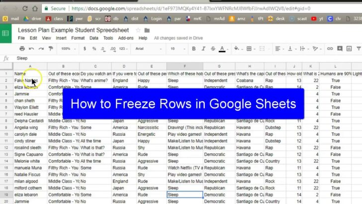 Medium Size of Spreadsheet Example Of A Excel Spreadsheets In Google Sheets Freeze Row