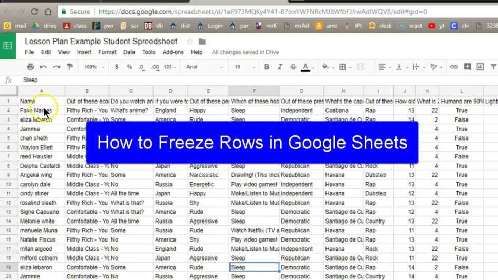 Large Size of Spreadsheet Example Of A Excel Spreadsheets In Google Sheets Freeze Row