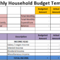 Spreadsheet Free Expense Tracking Personal Finance Schedule Household Budget Template