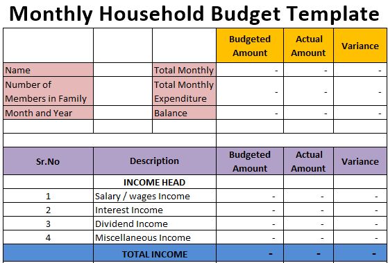 Full Size of Spreadsheet Free Expense Tracking Personal Finance Schedule Household Budget Template