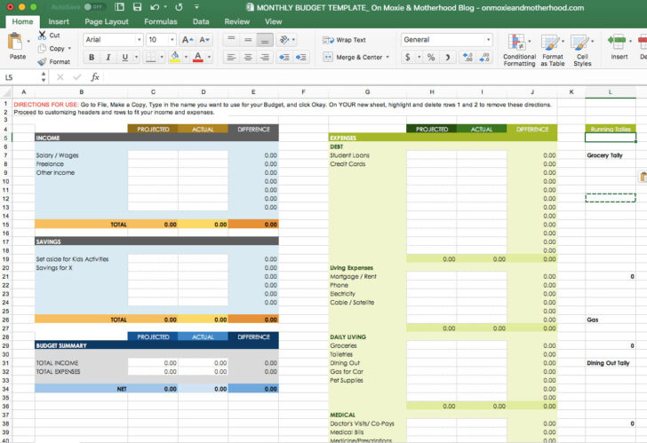 Medium Size of Spreadsheet Home Budget Excel Vs Actual Template Best