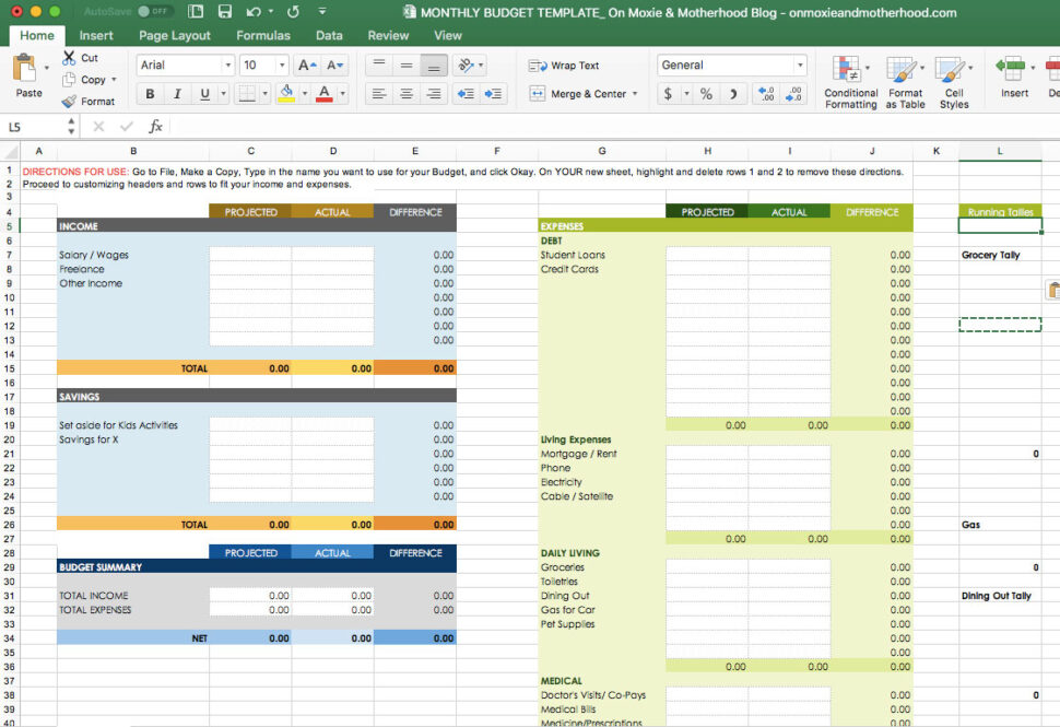 Large Size of Spreadsheet Home Budget Excel Vs Actual Template Best