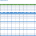 Thumbnail Size of Spreadsheet On Excel Template For Customer Database Resource Allocation Company Expenses