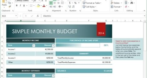 Spreadsheet Program Free House Flipping Trial Excel Monthly Budget Template