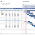Spreadsheet Project Management Excel Template Plan