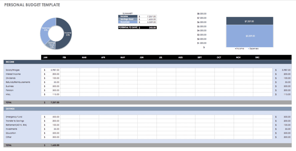Large Size of Spreadsheet To Track Expenses Home Rental Property Income And Expense Personal Budget Template