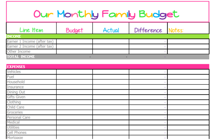 Medium Size of Spreadsheet Vacation Expense Template Weekly Expenses Grant Tracking Monthly Budget