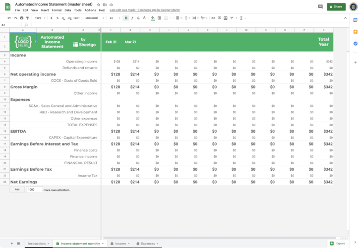 Medium Size of Template Excel Spreadsheet Templates Monthly Expenses Google Sheets