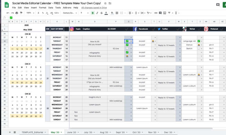 Template Free Download Business Idea Ppt Impact Analysis Example Google Sheets Templates Schedule