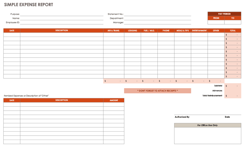 Large Size of Template Sample Business Proposal Simple Card Expenses Spreadsheet