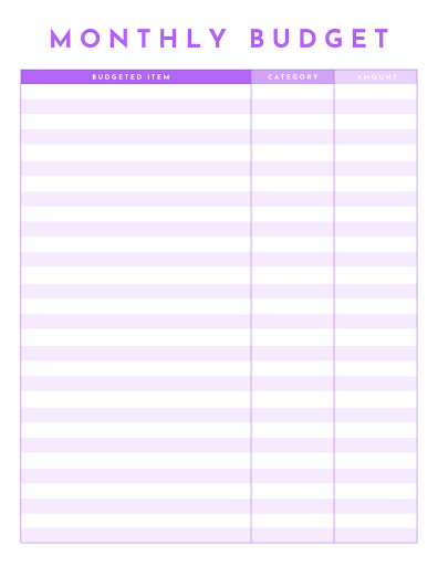 Templates Business Web Page Excel Free Template Monthly Budget
