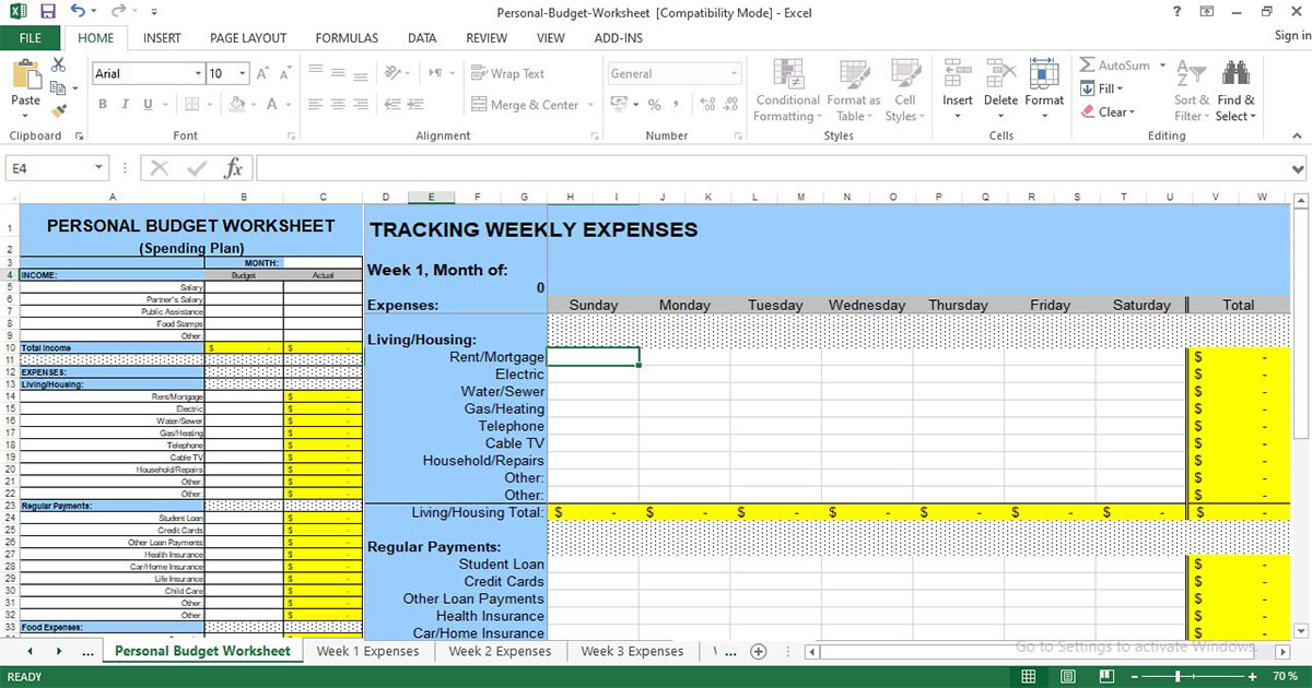 Full Size of Templates Free Download Business Estimate Template Expense Spreadsheet Tracker