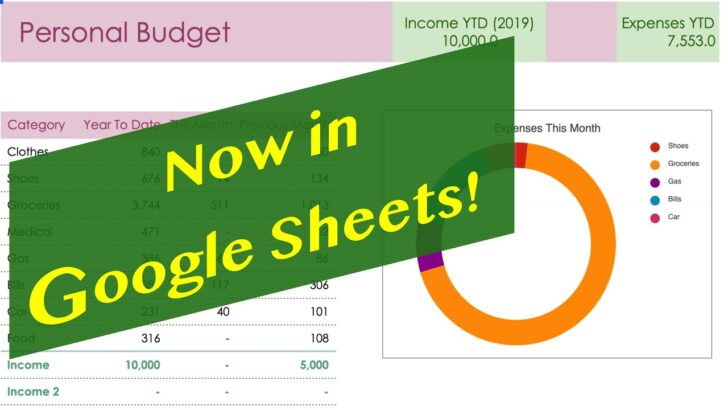 The Smart Personal Budget Template Now In Google Sheets Job Order Cost Sheet Excel Spreadsheet