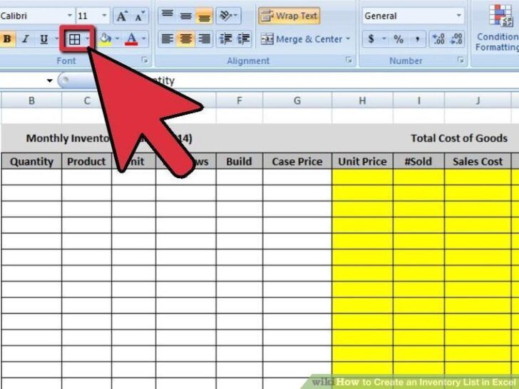 To Create An Inventory In Excel With Pictures Spreadsheet Template Itto Income And List