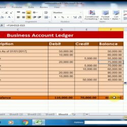 To Create Business Accounts Ledger In Microsoft Excel Debit Credit Balance Software Plan Spreadsheet