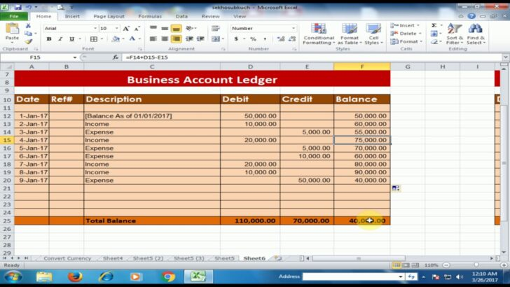 Medium Size of To Create Business Accounts Ledger In Microsoft Excel Debit Credit Balance Software Plan Spreadsheet
