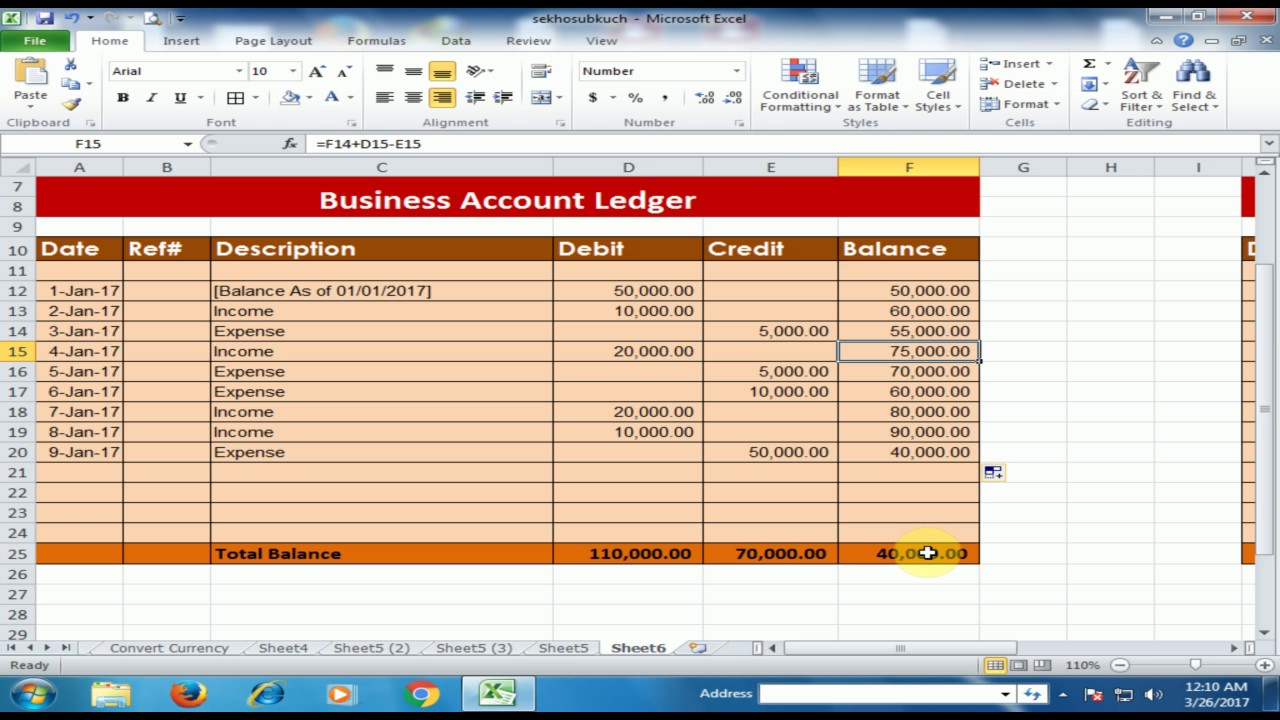 Full Size of To Create Business Accounts Ledger In Microsoft Excel Debit Credit Balance Software Plan Spreadsheet