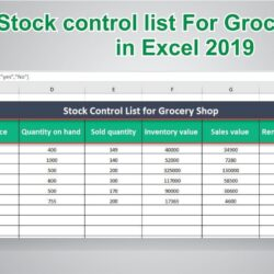 To Create Stock Control In Ms Excel Inventory Management Business Agenda Template Google Spreadsheet