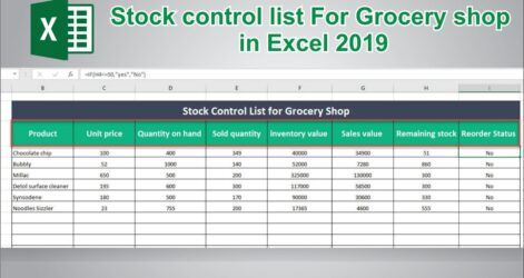 To Create Stock Control In Ms Excel Inventory Management Spreadsheet Take Template Direct