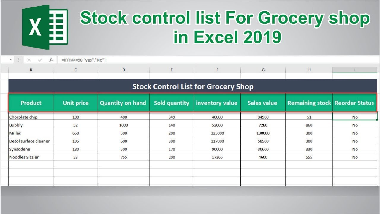Full Size of To Create Stock Control In Ms Excel Inventory Management Spreadsheet Take Template Direct