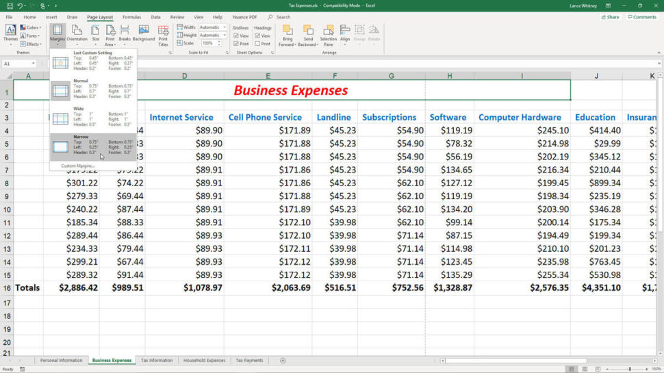 Large Size of To Fix Common Printing Problems In Microsoft Excel Techrepublic Document Figure Small Spreadsheet