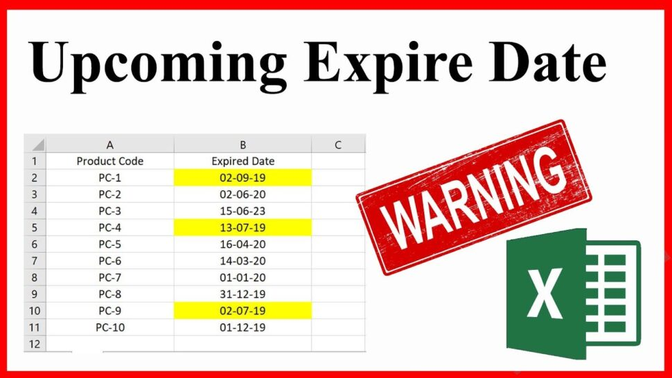Large Size of To Identify Or Highlight Upcoming Expiration Dates In Excel Date Template Spreadsheets Spreadsheet Download