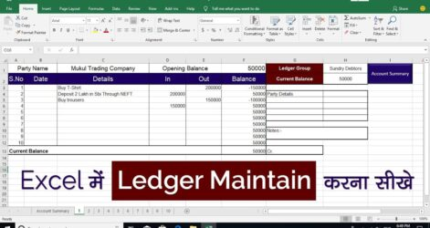 To Maintain Ledger In Excel With Example Software Balance Sheet Format Pivot Table Spreadsheet