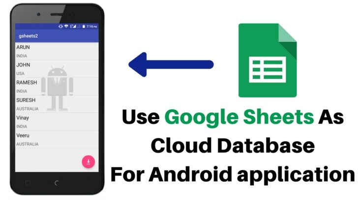 To Use Google Sheet As Database For Android Application Part Spreadsheet Home Remodeling
