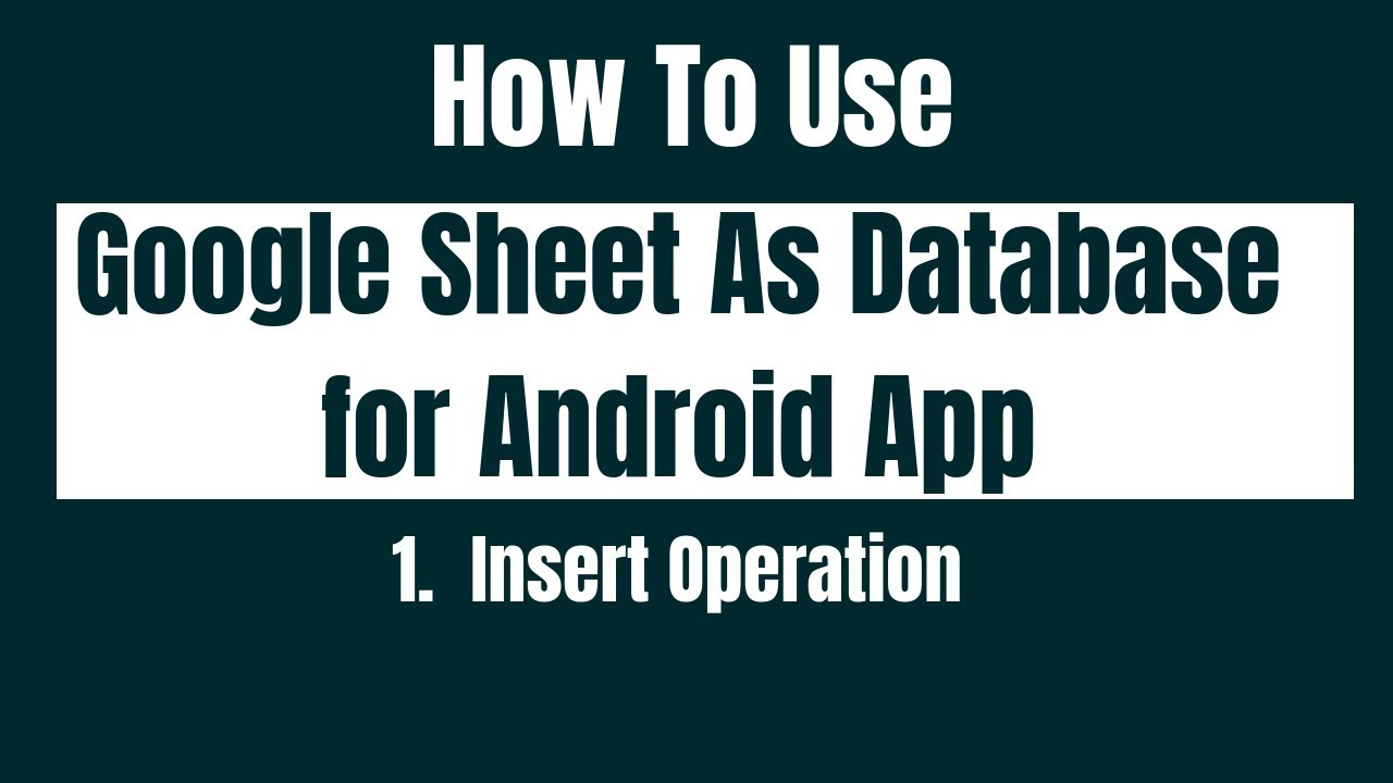 Full Size of To Use Google Sheet As Database For Android Display Item Details Read Operation Spreadsheet
