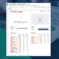 To Use The Google Sheets Budget Template Free Spreadsheet Docs Planner