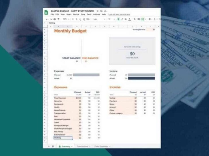 Medium Size of To Use The Google Sheets Budget Template Free Spreadsheet Monthly