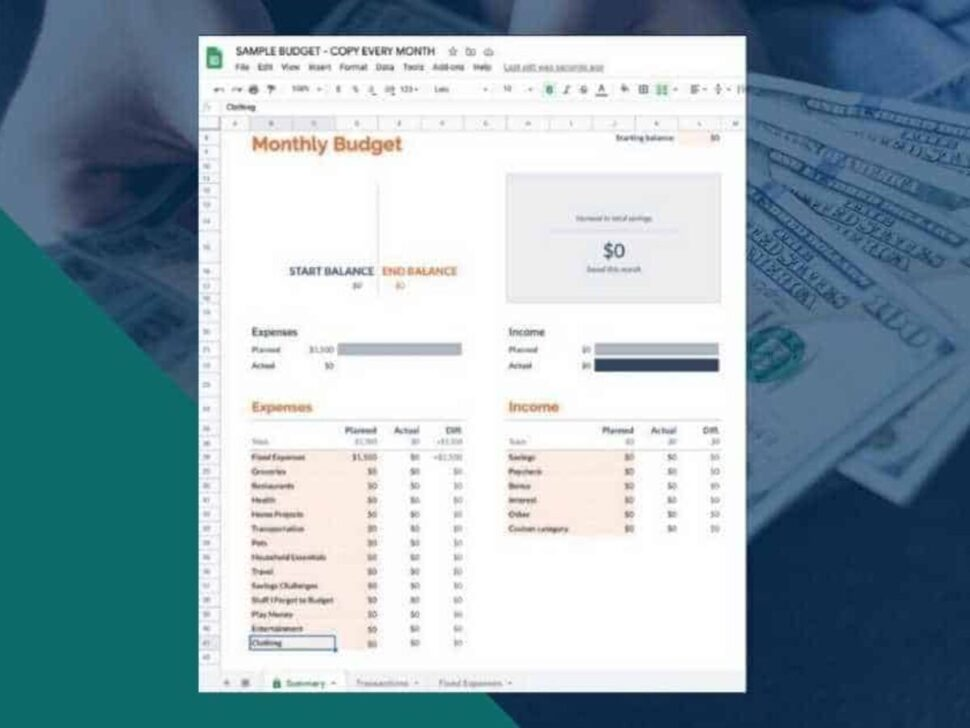 Large Size of To Use The Google Sheets Budget Template Free Spreadsheet Monthly