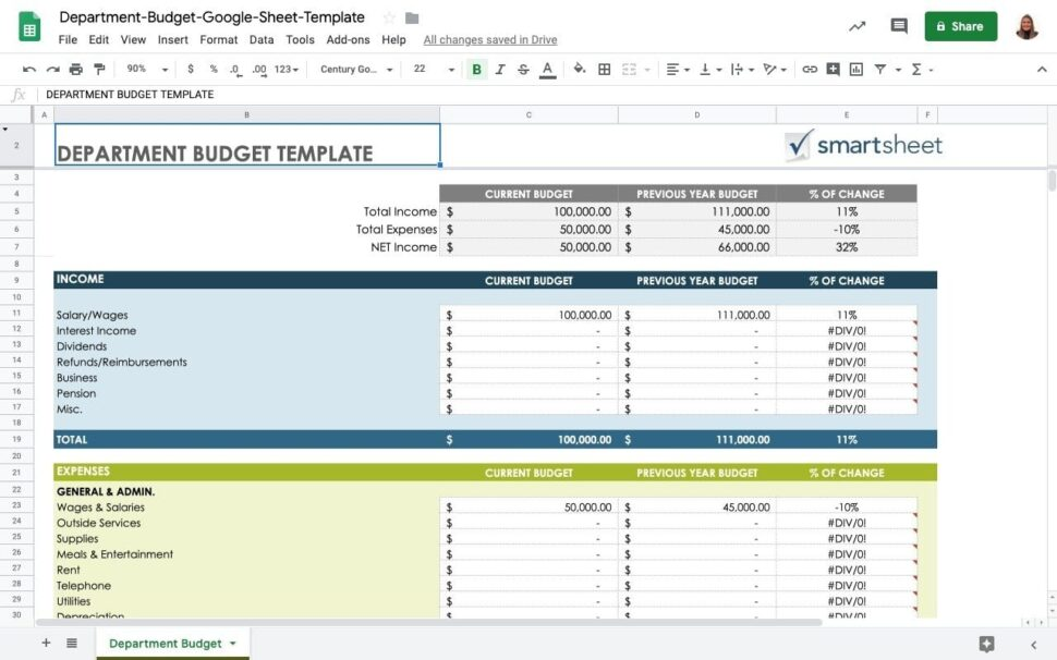 Large Size of Top Free Finance Templates In Google Sheets Sheetgo Blog Personal Budget Department Spreadsheet