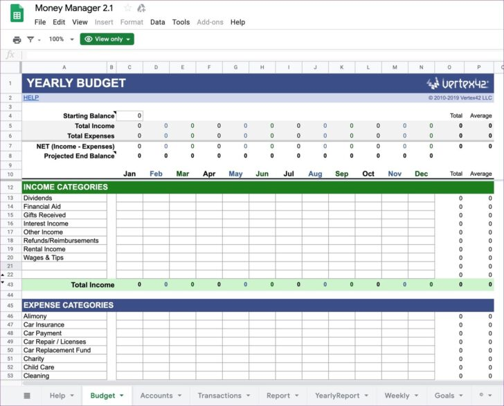 Medium Size of Top Google Sheets Budget Templates For Finance Tracking Personal Money Manager Free Blank Spreadsheet
