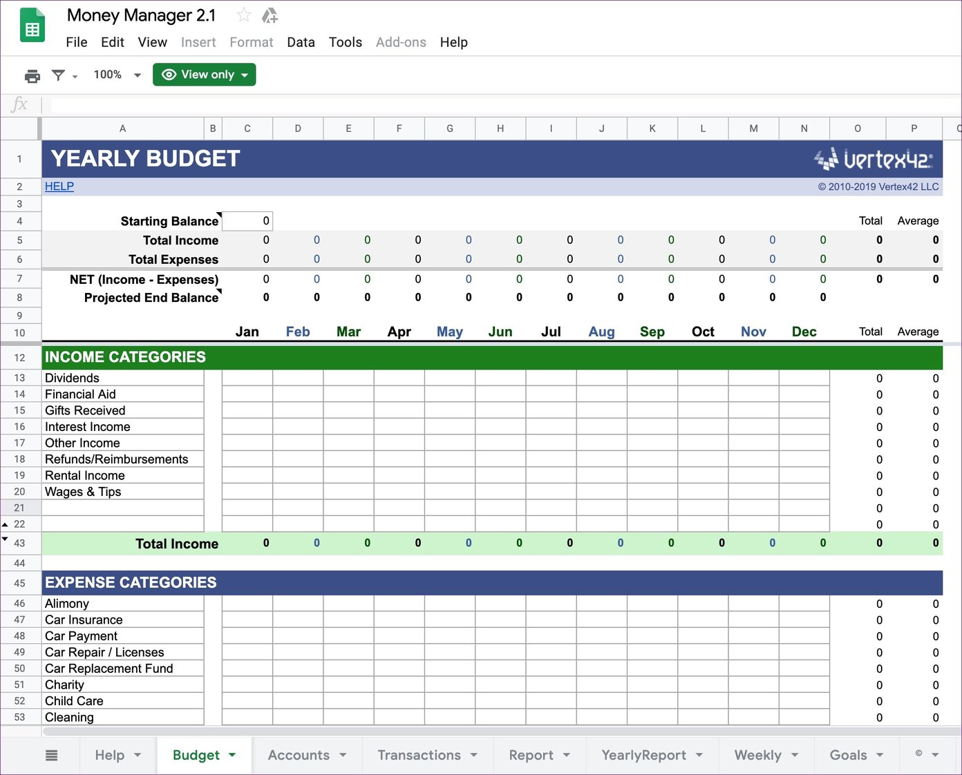 Full Size of Top Google Sheets Budget Templates For Finance Tracking Personal Money Manager Free Blank Spreadsheet