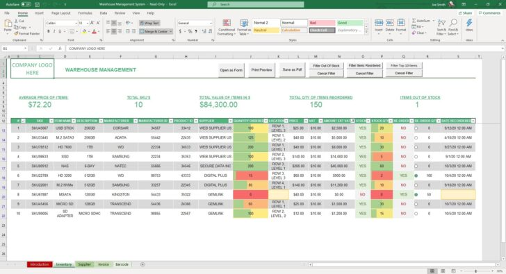 Medium Size of Warehouse Management System Excel Template Simple Sheets Inventory Stock Control Spreadsheet