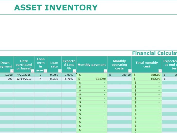 Medium Size of Asset Inventory Template My Excel Templates Tracking Spreadsheet Free Creative Business