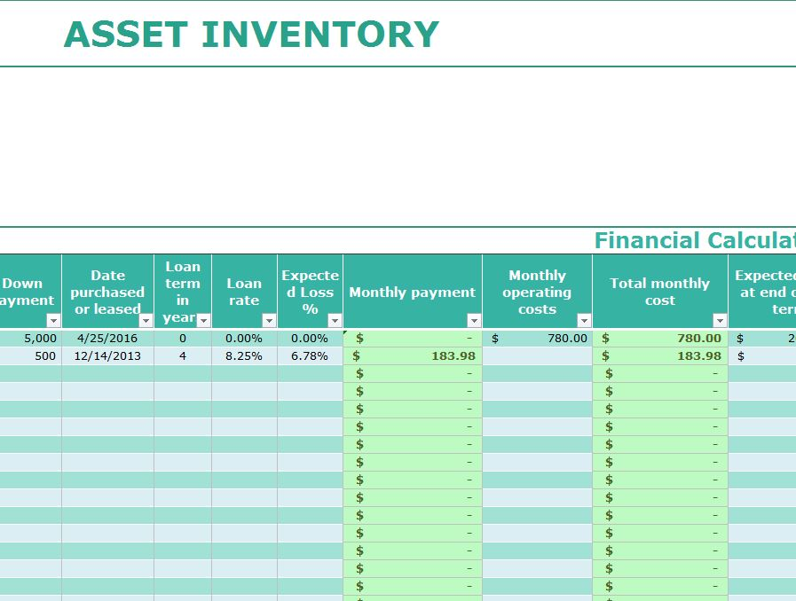 Full Size of Asset Inventory Template My Excel Templates Tracking Spreadsheet Free Creative Business