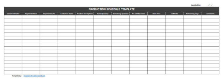 Medium Size of Best Free Production Schedule Template Excel Scheduling 1024x372 Business Card Templates Spreadsheet