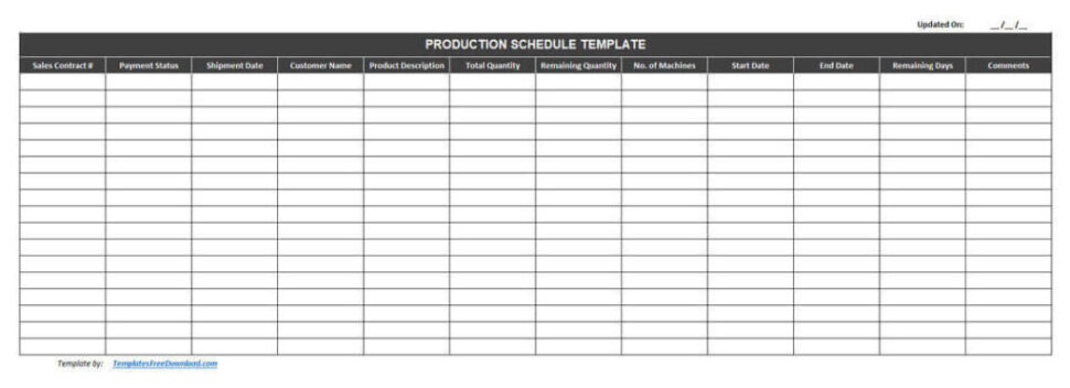 Large Size of Best Free Production Schedule Template Excel Scheduling 1024x372 Business Card Templates Spreadsheet