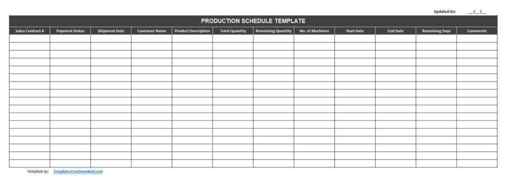 Full Size of Best Free Production Schedule Template Excel Scheduling 1024x372 Business Card Templates Spreadsheet
