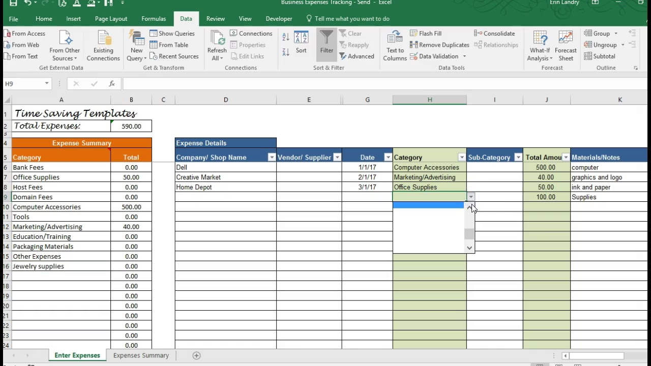Full Size of Business Expenses Template Overhead Tracking Spreadsheet Free Excel Templates For Project