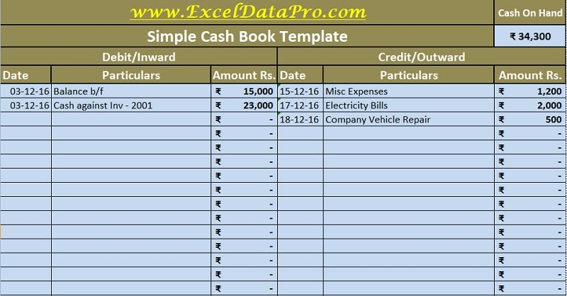 Full Size of Cash Book Excel Template Exceldatapro Transaction Sheet Templates Oracle Business Spreadsheet