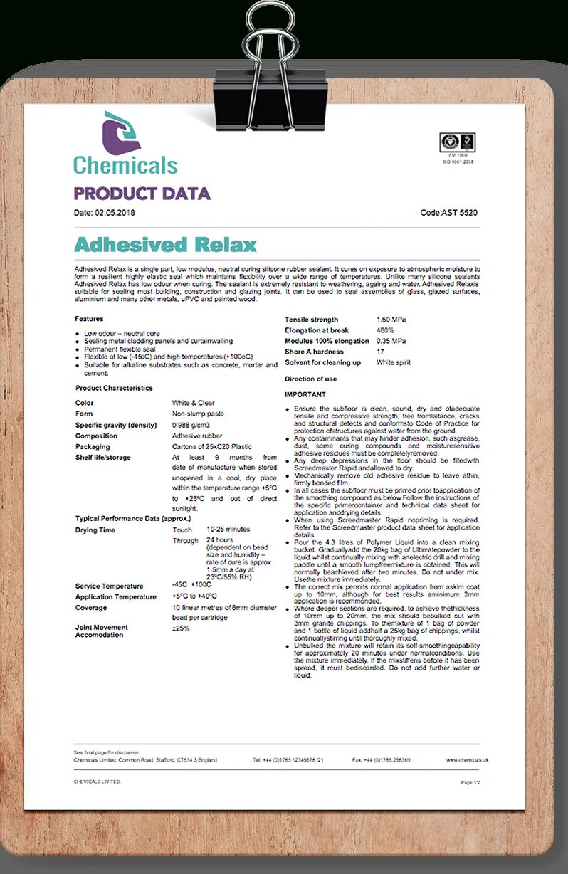 Full Size of Chemical Adhesive Datasheet Template This Free Product Pertaining To Word Best Business Spreadsheet Sheet