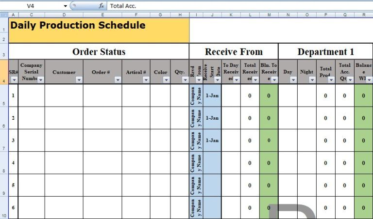 Full Size of Daily Production Schedule Template Excel Templates Spreadsheet Planning Report Format
